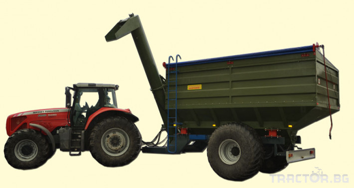 Ремаркета и цистерни Контейнер за събиране Кобзаренко ПБН-20 1 - Трактор БГ