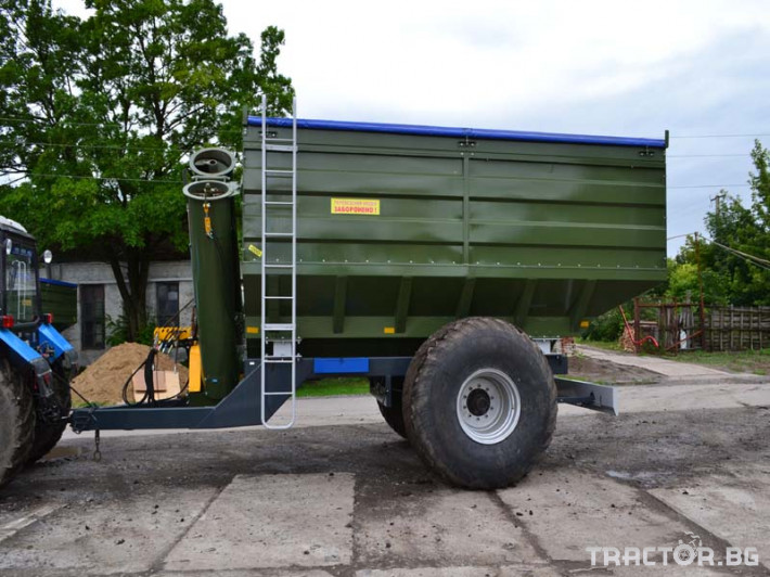 Ремаркета и цистерни Контейнер за събиране Кобзаренко ПБН-20 4 - Трактор БГ