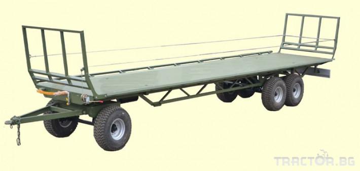 Ремаркета и цистерни Ремарке платформа Кобзаренко за превоз на слама и рулонни бали ПП-12/3 0 - Трактор БГ