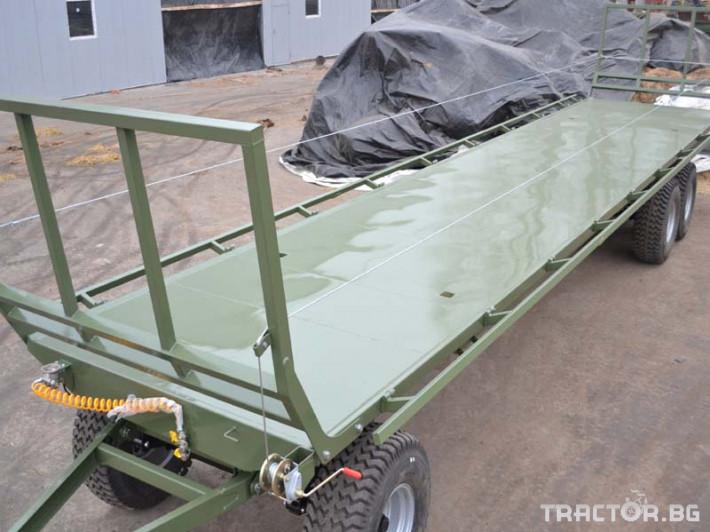Ремаркета и цистерни Ремарке платформа Кобзаренко за превоз на слама и рулонни бали ПП-12/3 2 - Трактор БГ
