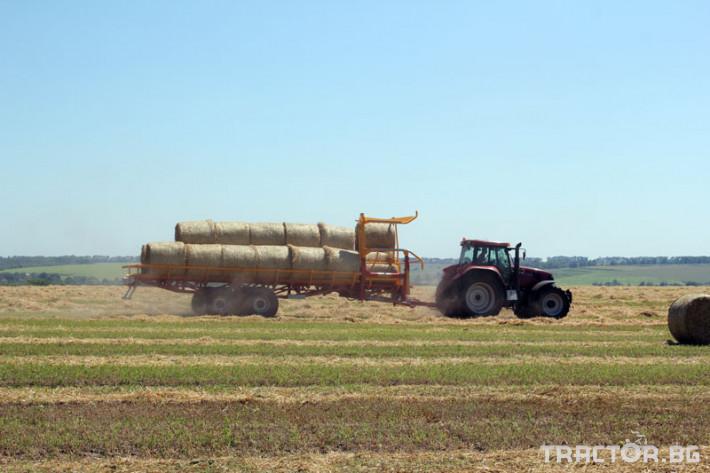 Ремаркета и цистерни Ремарке за бали самотоварещо се Кобзаренко ПТ-24 13 - Трактор БГ