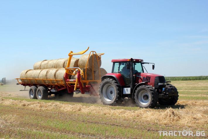 Ремаркета и цистерни Ремарке за бали самотоварещо се Кобзаренко ПТ-24 14 - Трактор БГ