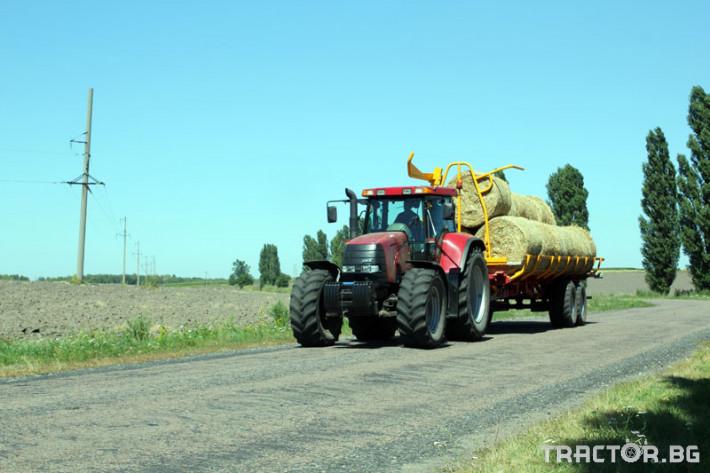 Ремаркета и цистерни Ремарке за бали самотоварещо се Кобзаренко ПТ-24 16 - Трактор БГ