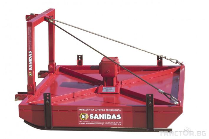 Машини за лозя / овошки Роторна косачка плоска марка SANIDAS 1 - Трактор БГ