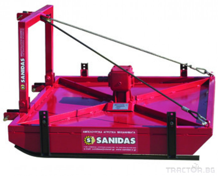 Машини за лозя / овошки Роторна косачка плоска марка SANIDAS 4 - Трактор БГ