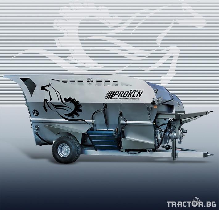 Ремаркета и цистерни Хоризонтално фуражомиксиращо ремарке PROKEN 0 - Трактор БГ
